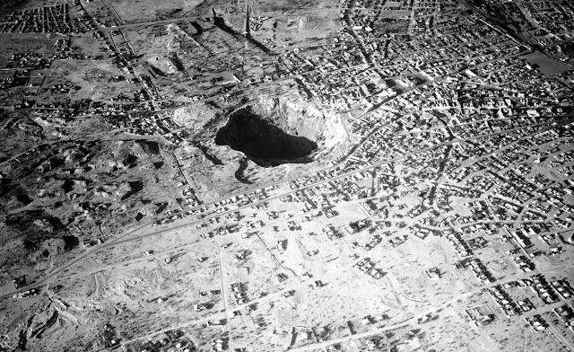 Fotografía de la mina Kimberley en 1937