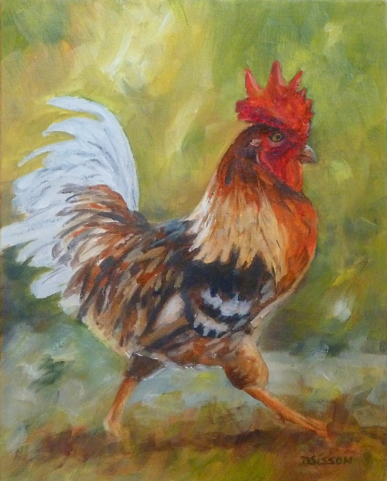Daily Painting Projects: Colorful Strut Oil Painting Farm ...
