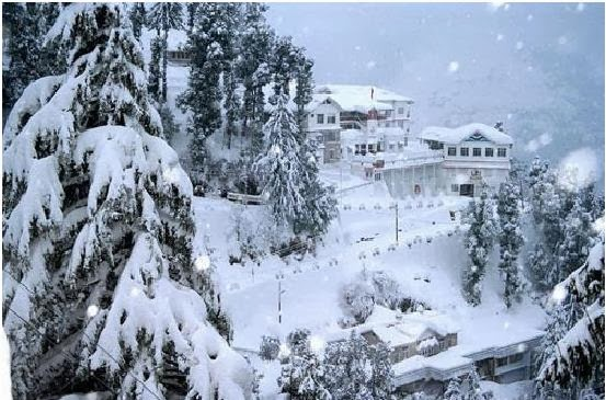 Snowfall in Dalhousie