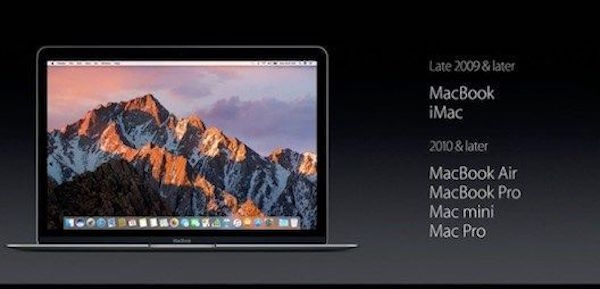 List of Macs Compatible with macOS Sierra 10.12