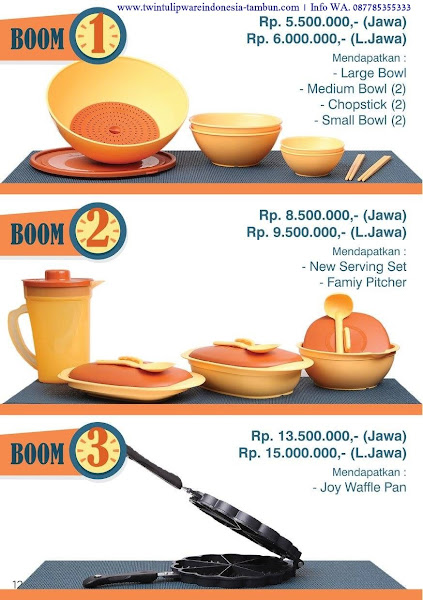 BOOM Twin Tulipware September 2017