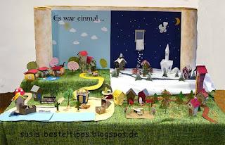 Schautisch Märchen Miniatur Märchenland stampin up ein haus für alle fälle