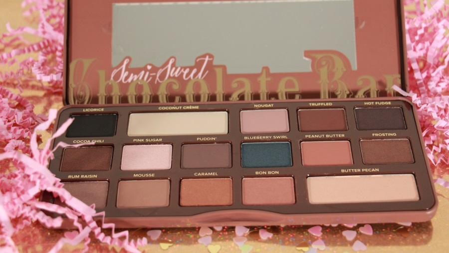 teintes semi sweet chocolate bar too faced blog beauté