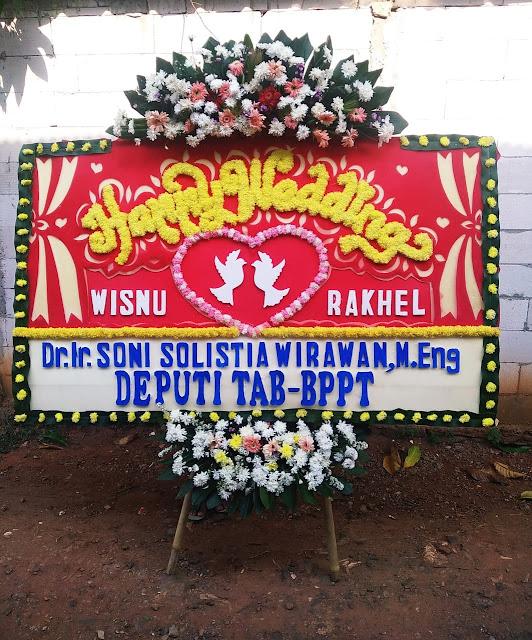 Toko Bunga Papan Happy Wedding Gedung LPMP Jakarta
