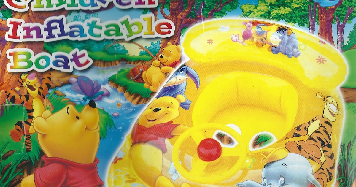 Disney Winnie The Pooh Children Inflatable Boat With