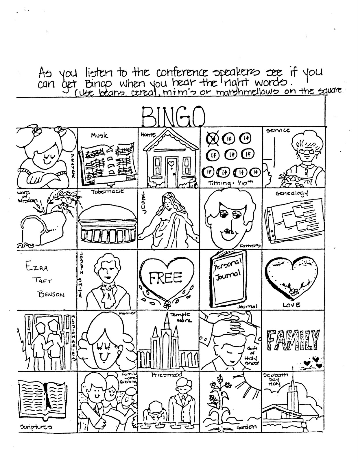 free download general conference bingo  bits of everything