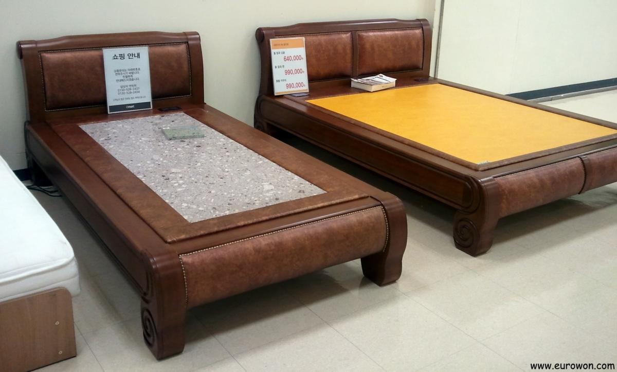 camas de piedra al estilo coreano