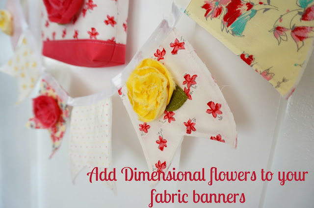 use dimensional flowers to add volume to your banners