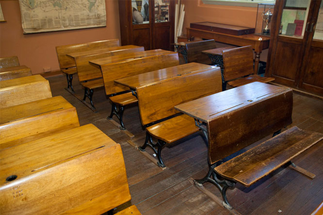 Elementary Classrooms ~ School desks why changes in education need to be conservative