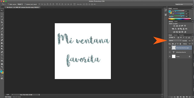 Hacer letras con purpurina en Photoshop