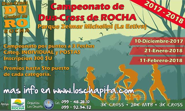 Inicia el Campeonato de Dua-Cross de Rocha de Los Chapita (10/dic/2017)