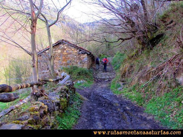 Ruta Retriñon: Camino embarrado paralelo al arroyo Fresneo