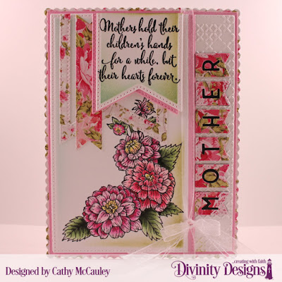 Stamp Set: Daughter's Best Friend  Embossing Folder: Cross Stitch   Paper Collection: Pretty Pink Peonies   Custom Dies: Pierced Rectangles, Large Banners, Treat Tags, Scalloped Rectangles, Alphabet Flags