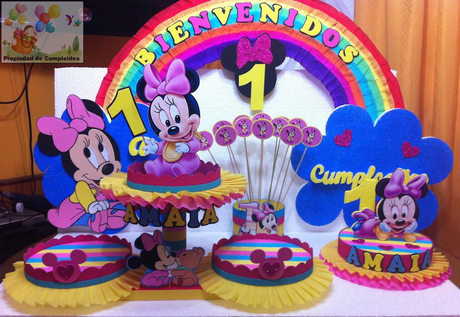 Decoraciones infantiles minnie mouse bebe for Decoracion cumpleanos bebe 1 ano