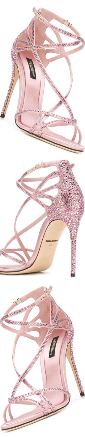 DOLCE & GABBANA  Keira Sandals shown in Pink