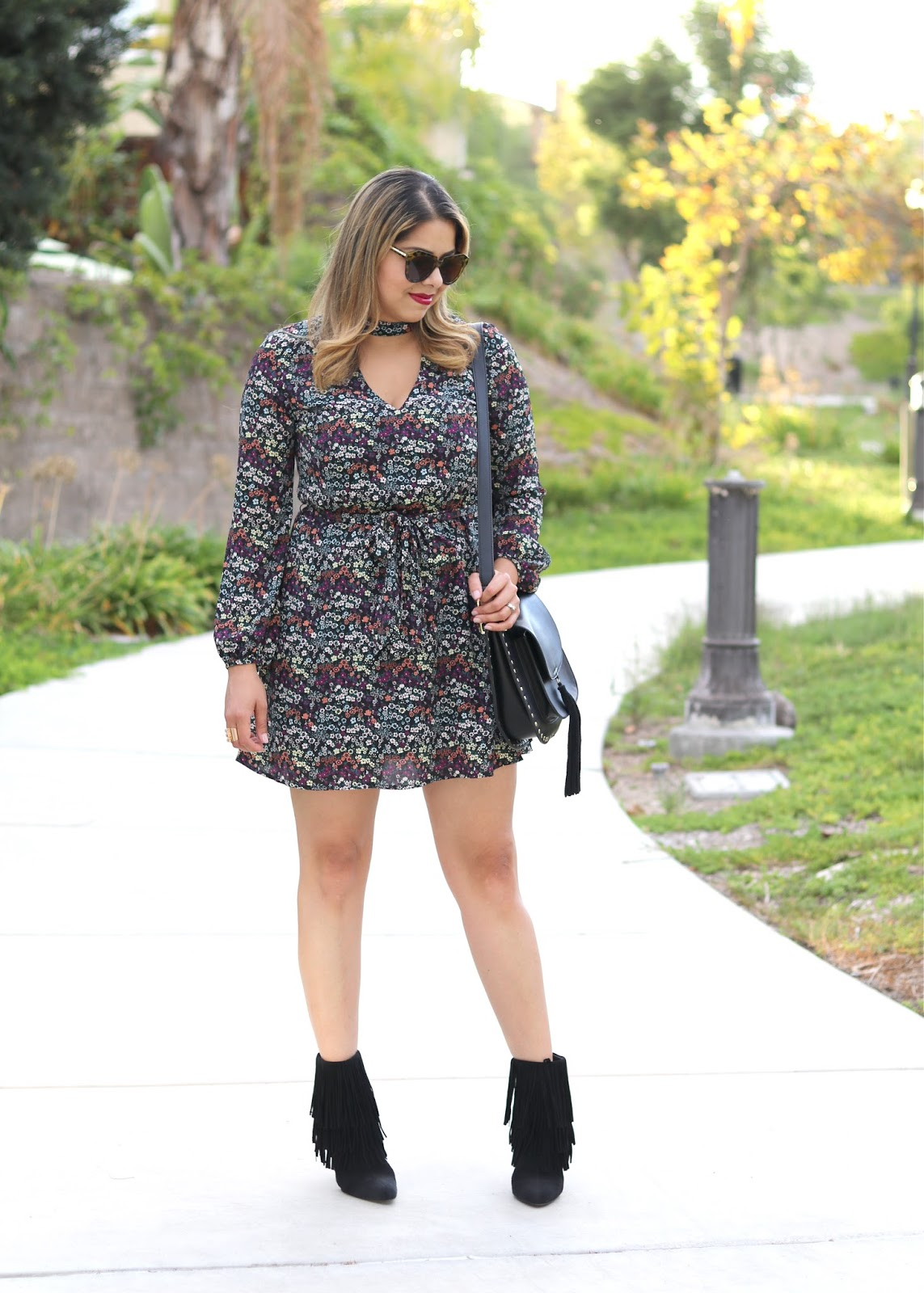 marsala and white floral dress, what to wear for a fall gathering, what to wear for thanksgiving