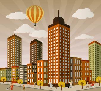 vectores de edificios