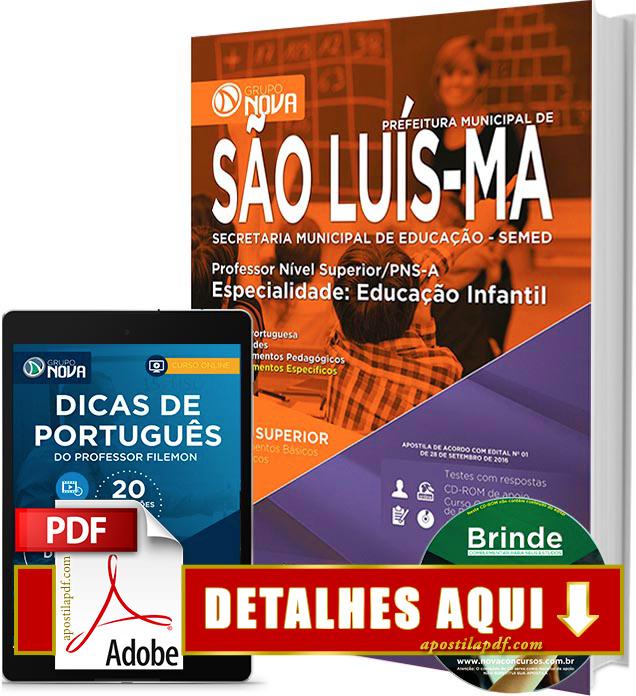Apostila SEMED 2016 São Luís Professor de Educação Infantil Impressa