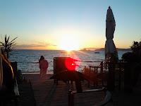 Puesta de sol en el chiringuito Tiburón en Formentera