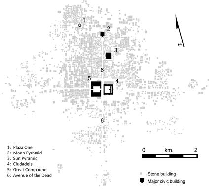 L'aménagement urbain uique de Teotihuacan