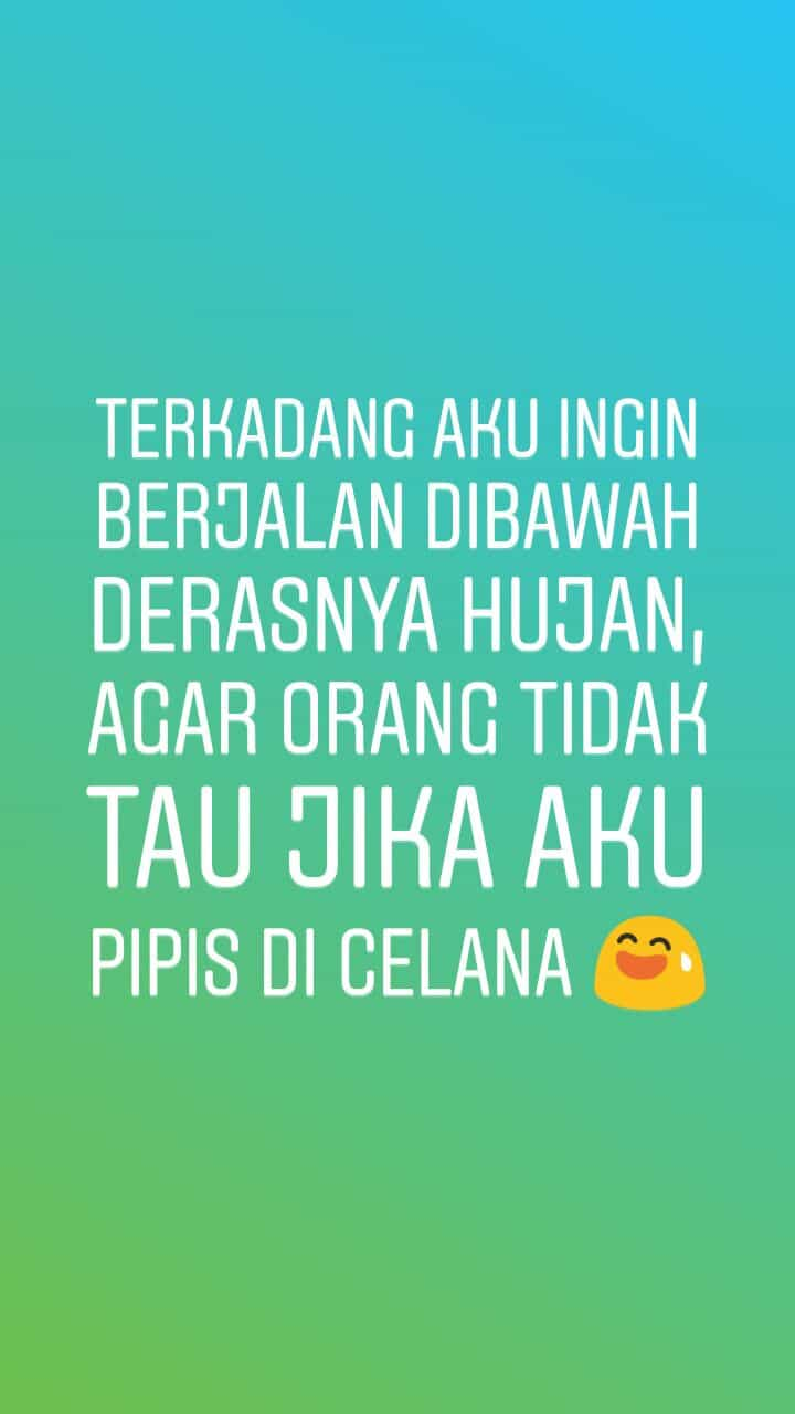 contoh story ig gokil