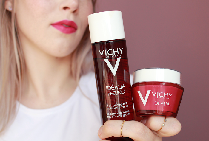 test of new Vichy Idealia AHA Peeling and cream