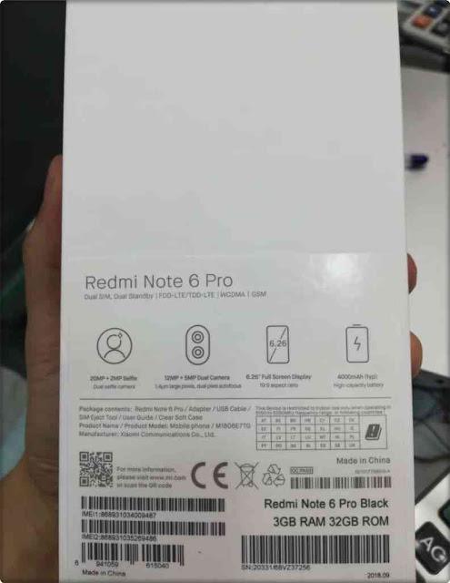 Kotak Xiaomi Redmi Note 6 Pro Unboxing_6