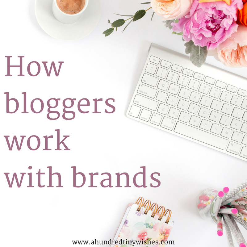 bloggers and brands, make money blogging, working with brands