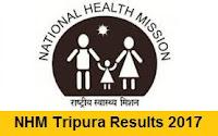 NHM Tripura Results 2017