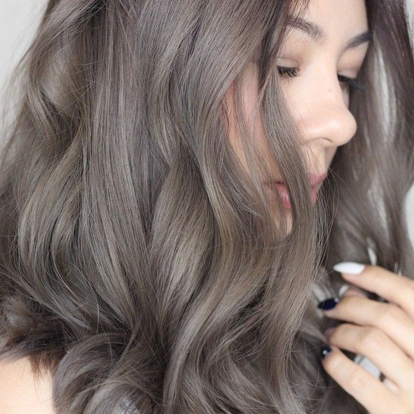 warna rambut burgundy ombre