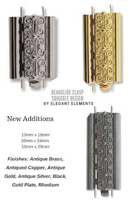 Elegant Elements beadslide bead clasps a1beadartjewelrysupply.com