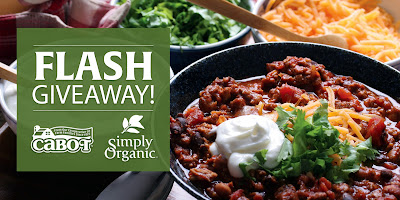Enter the Cheesy & Spicy Giveaway. Ends 1/31