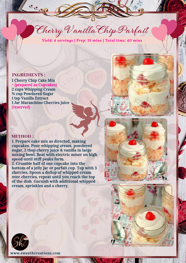 CHERRY VANILLA CHIP PARFAIT RECIPE