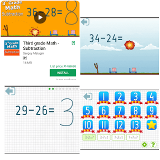 Third grade math substraction paid Android app download free here