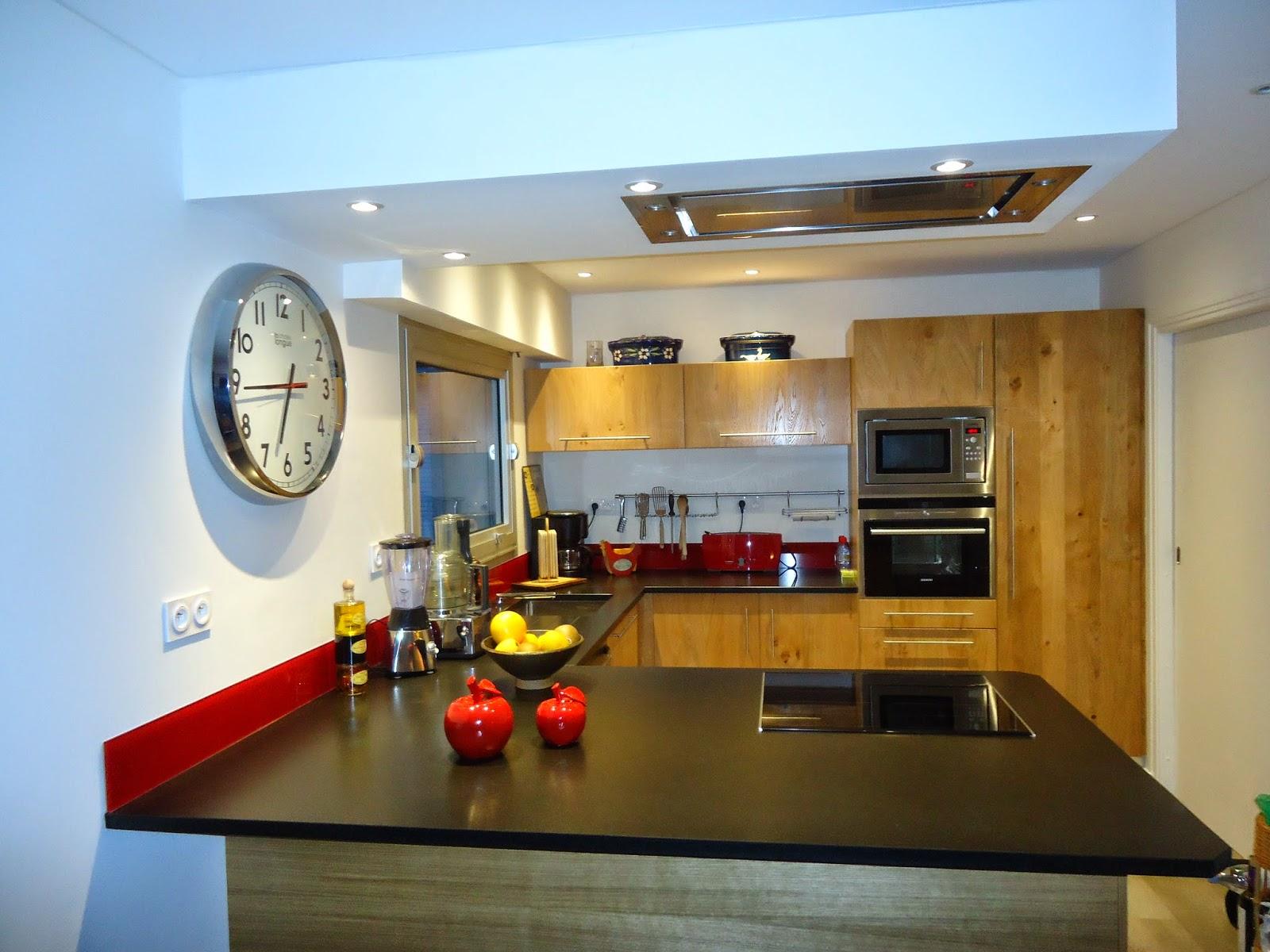 Credence Verre Ilot Central michel le coz agencement & décoration: cuisine moderne bois