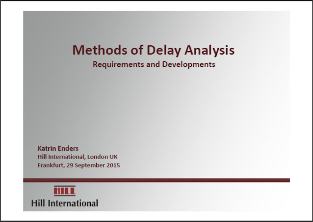 Methods of Delay Analysis Requirements and Developments