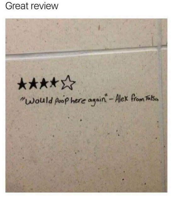 4 stars - would poop here again - alex from Tulson