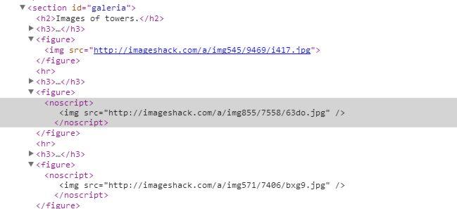 captura inspector de código con imágenes sin cargar