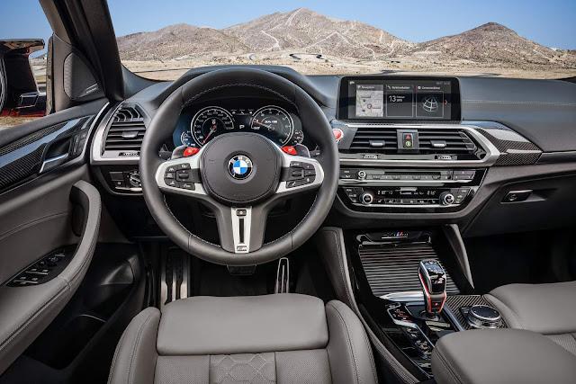 Novo BMW X4 M 2020 - interior