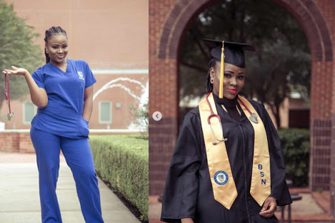 Pretty Nigerian Comedienne Graduates As Nurse In US... shares her failure & success story