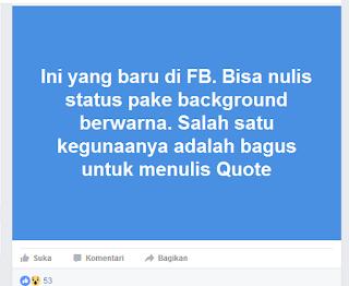 Fitur Facebook Terbaru Cara Membuat Background Status Facebook Jadi Tampil Warna-Warni