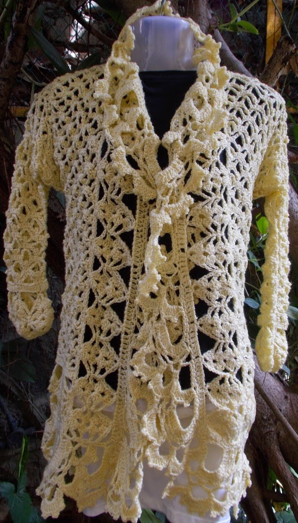 free crochet ladies bolero pattern, free crochet ladies jacket pattern,