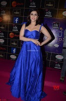 Mannara Chopra in Deep Neck Blue Gown at Zee Telugu Apsara Awards ~  Exclusive 036.jpg