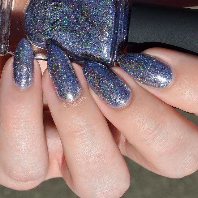 purple metallic nail polish sunlight