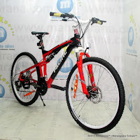 Sepeda Gunung Pacific Alligator Full Suspension 26 Inci Black Red