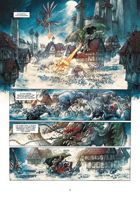 page de Elfes T13 Heuyreux le guerrier mort de Péru et Bileau chez Soleil