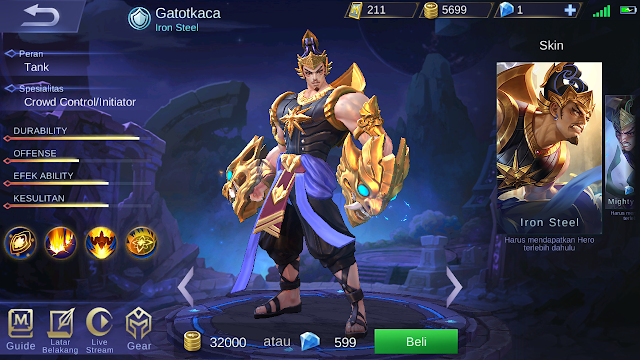 guide dan build gatotkaca terbaru