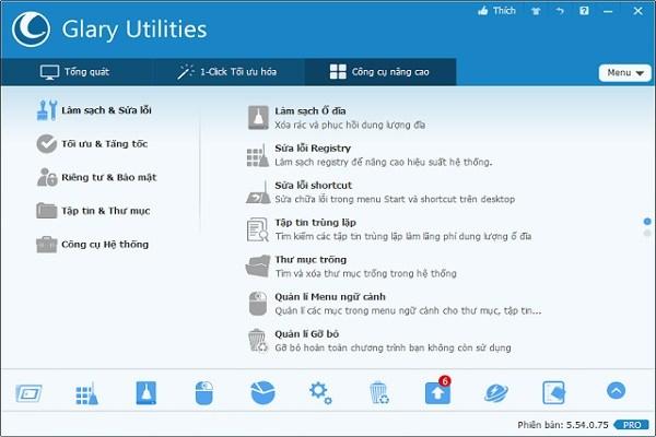 Glary Utilities Pro 5.96.0.118 - Công Cụ Sửa Chữa Và Tăng Tốc Máy Tính Miễn Phí 2018