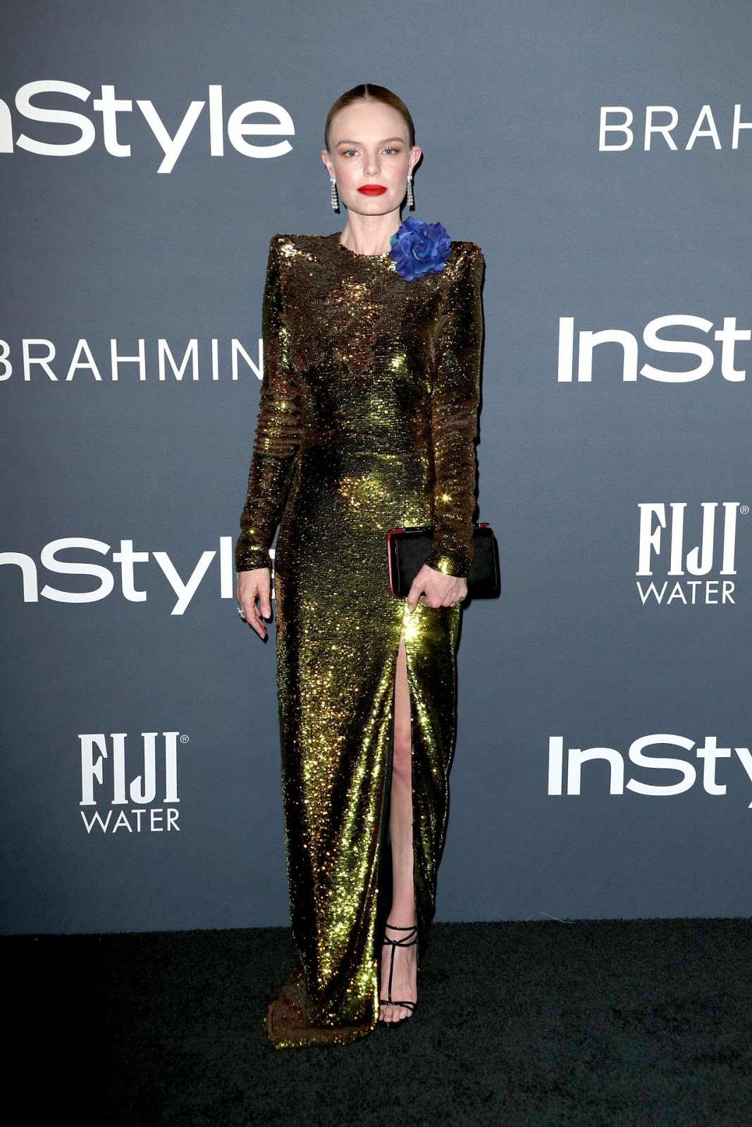 Kate Bosworth wears glittering green gown to the 2017 InStyle Awards