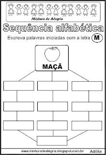 Sequência alfabética letra M